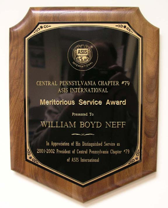 Bill Neff Central Pennsylvania ASIS President Award
