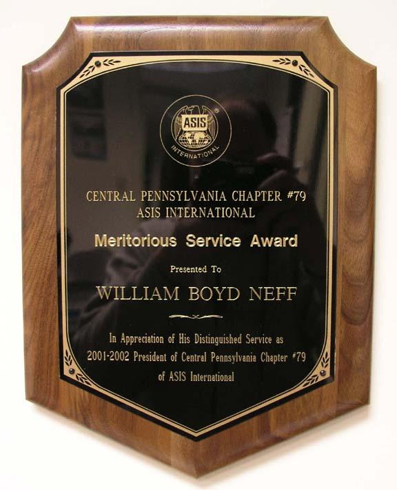 Bill Neff Central Pennsylvania ASIS President Award